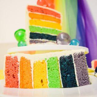 RAINBOW CAKE THAT TASTES LIKE A RAINBOW