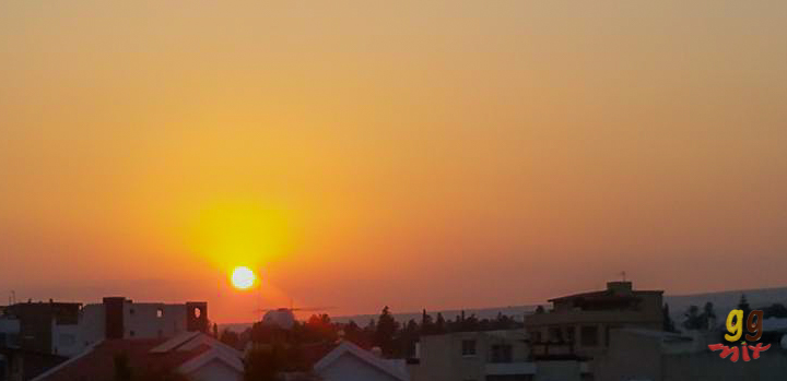 sunset in protaras cyprus