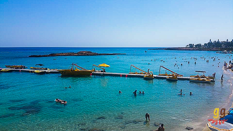 VIEW OF THE SEA AT FIG TREE BAY IN CYPRUS
