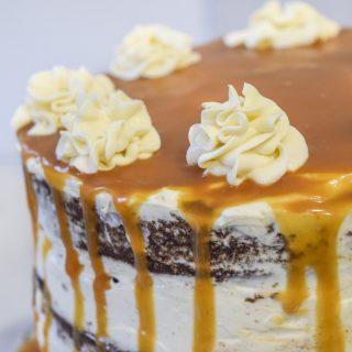 NAKED CARROT CAKE DRIP CAKE