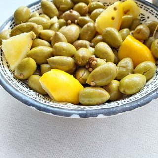ELIES TSAKISTES GREEK CRACKED GREEN OLIVES