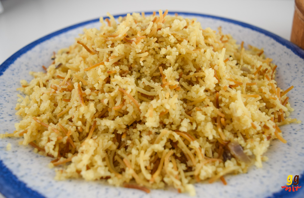 a plate of Greek Cypriot pourgouri pilafi